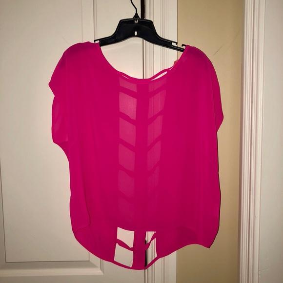 Lush Tops - Sheer Pink Top